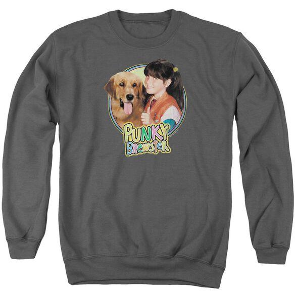 Punky Brewster Punky &Amp; Brandon Adult Crewneck Sweatshirt