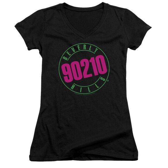 90210 Neon - Junior V-neck - Black
