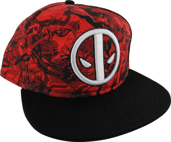 54bfb5b6c9121 Images. Deadpool Icon Sublimated Red Camo Hat