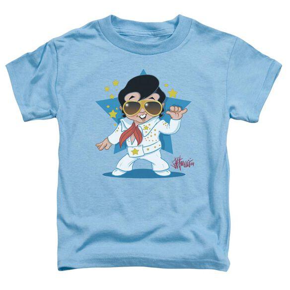 Elvis Jumpsuit Short Sleeve Toddler Tee Carolina Blue Md T-Shirt