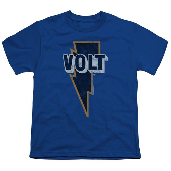 Volt Volt Logo Short Sleeve Youth Royal T-Shirt