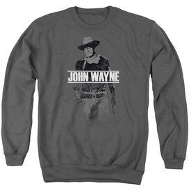 John Wayne Fade Off Adult Crewneck Sweatshirt