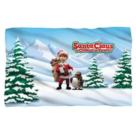 Santa Claus Is Comin To Town Kris And Topper Fleece Blanket