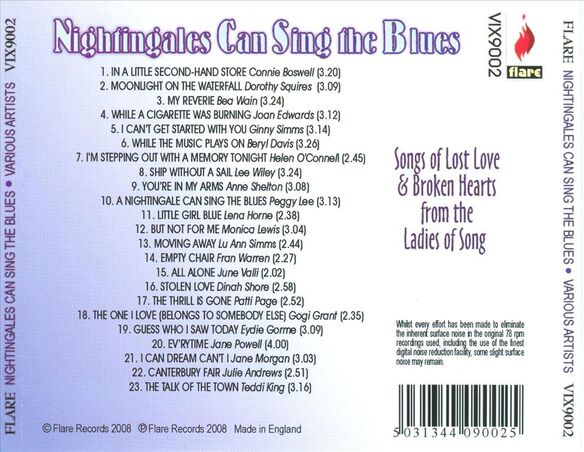 Nightingales Can Sing The Blues / Various