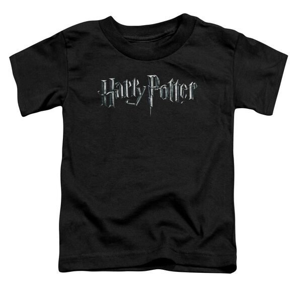 Harry Potter Logo Short Sleeve Toddler Tee Black T-Shirt