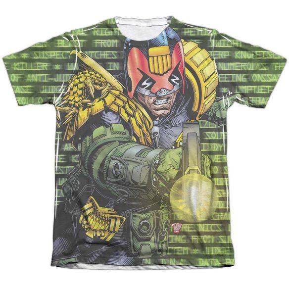 Judge Dredd Matrix Adult Poly Cotton Short Sleeve Tee T-Shirt