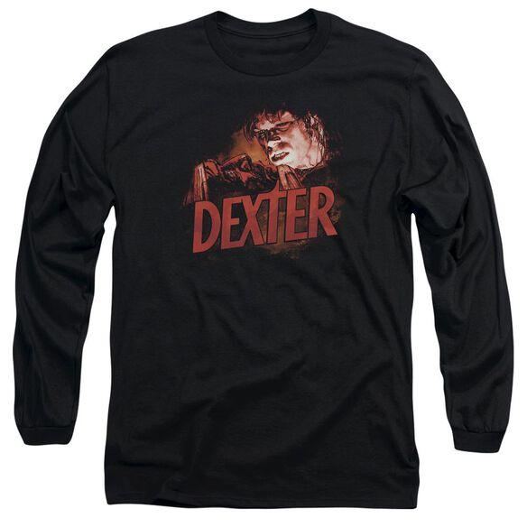 Dexter Drawing Long Sleeve Adult T-Shirt