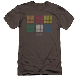 Rubik's Cube Minimal Squares Premuim Canvas Adult Slim Fit