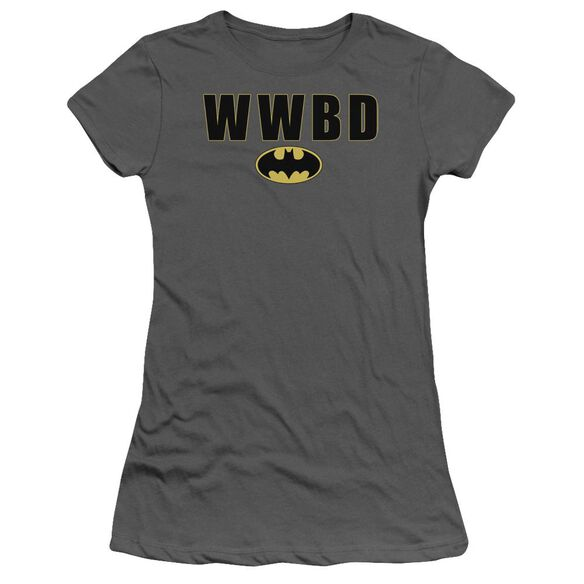 Batman Wwbd Logo Short Sleeve Junior Sheer T-Shirt