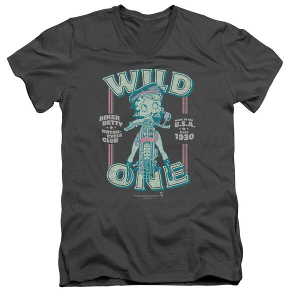 Betty Boop Wild One Short Sleeve Adult V Neck T-Shirt