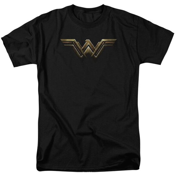 Justice League Movie Wonder Woman Logo Short Sleeve Adult T-Shirt
