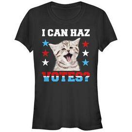 Political Can Haz Votes Juniors T-Shirt
