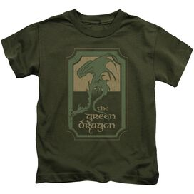 Lord Of The Rings Dragon Tavern Short Sleeve Juvenile Military T-Shirt