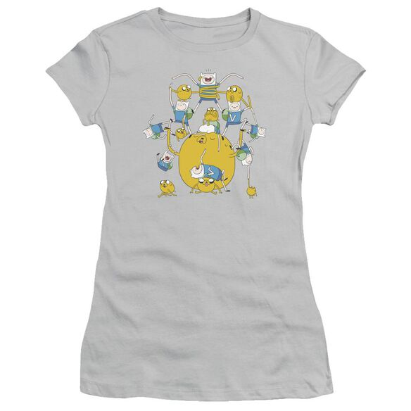 Adventure Time Finn&Jake Group Short Sleeve Junior Sheer T-Shirt