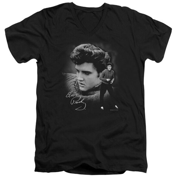 Elvis Sweater Short Sleeve Adult V Neck T-Shirt