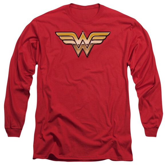 Jla Golden Long Sleeve Adult T-Shirt
