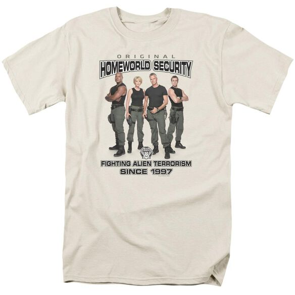 Sg1 Homeworld Security Short Sleeve Adult Cream T-Shirt