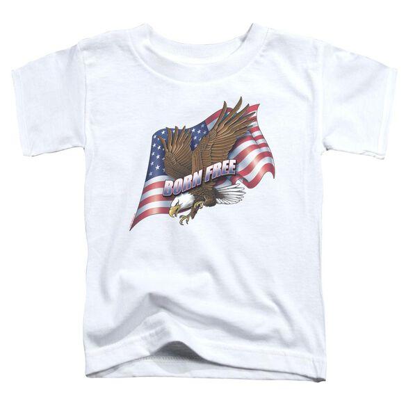 Born Free Short Sleeve Toddler Tee White Sm T-Shirt