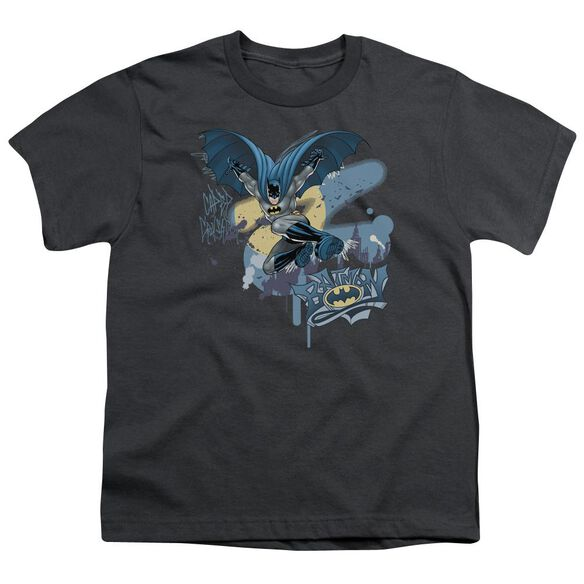 Batman Into The Night Short Sleeve Youth T-Shirt