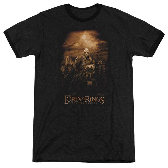 Lor Riders Of Rohan Adult Heather Ringer Black