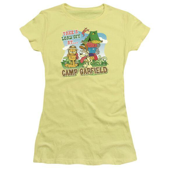 Garfield Camp Garfield Short Sleeve Junior Sheer T-Shirt