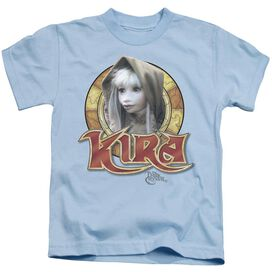 Dark Crystal Kira Circle Short Sleeve Juvenile Light Blue T-Shirt