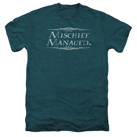 Harry Potter Mischief Managed Short Sleeve Adult Premium Tee Deep Teal T-Shirt