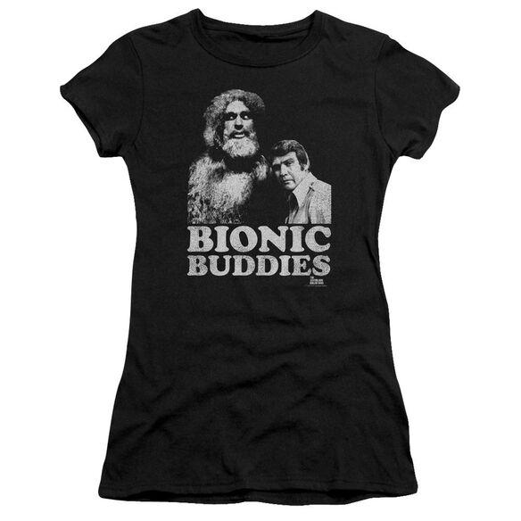 Six Million Dollar Man Bionic Buddies Short Sleeve Junior Sheer T-Shirt
