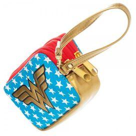 Wonder Woman Double Zip Wristlet Clutch Wallet