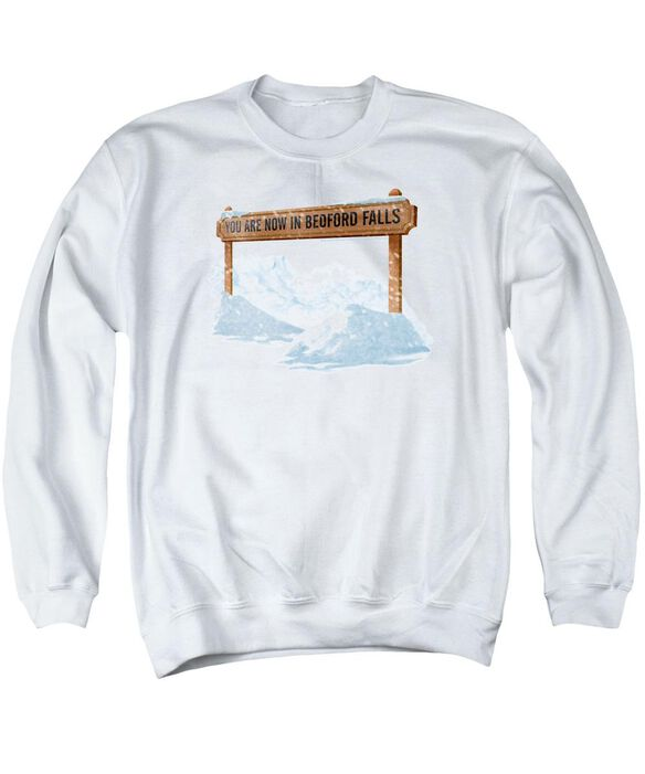 Its A Wonderful Life Bedford Falls Adult Crewneck Sweatshirt