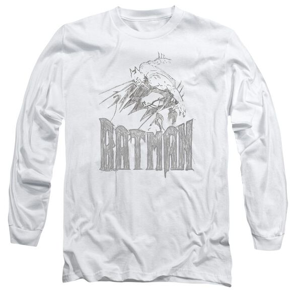 Batman Knight Sketch Long Sleeve Adult T-Shirt