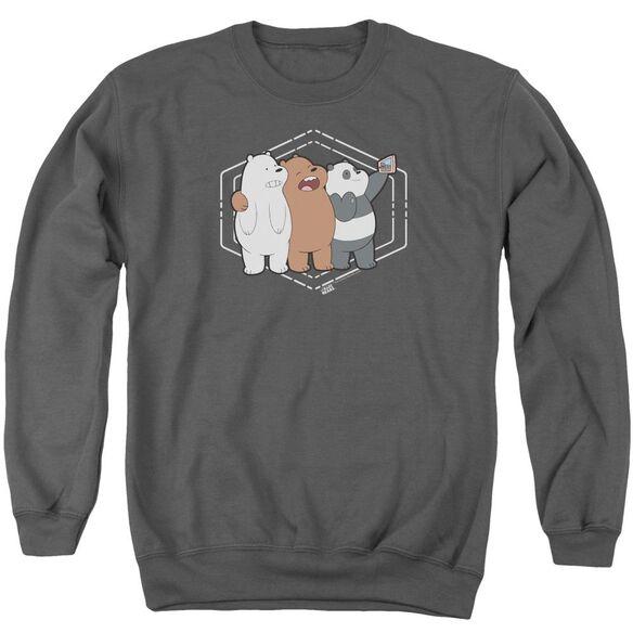 We Bare Bears Selfie Adult Crewneck Sweatshirt