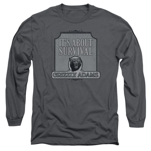 Grizzly Adams Survival Long Sleeve Adult T-Shirt