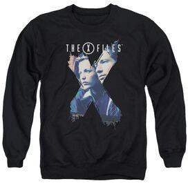 X Files X Agents - Adult Crewneck Sweatshirt - Black