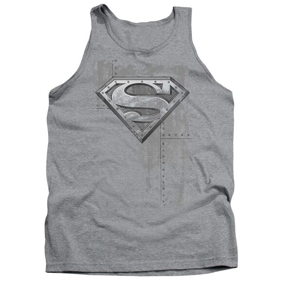Superman Riveted Metal Adult Tank Athletic