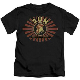 Sun Sun Ray Rooster Short Sleeve Juvenile Black T-Shirt
