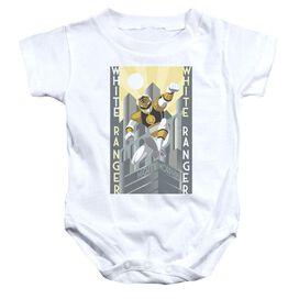 Power Rangers White Ranger Deco Infant Snapsuit White
