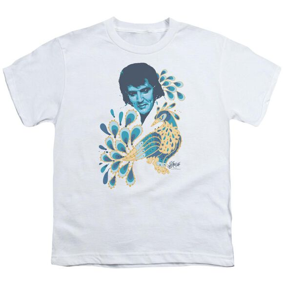 Elvis Peacock Short Sleeve Youth T-Shirt