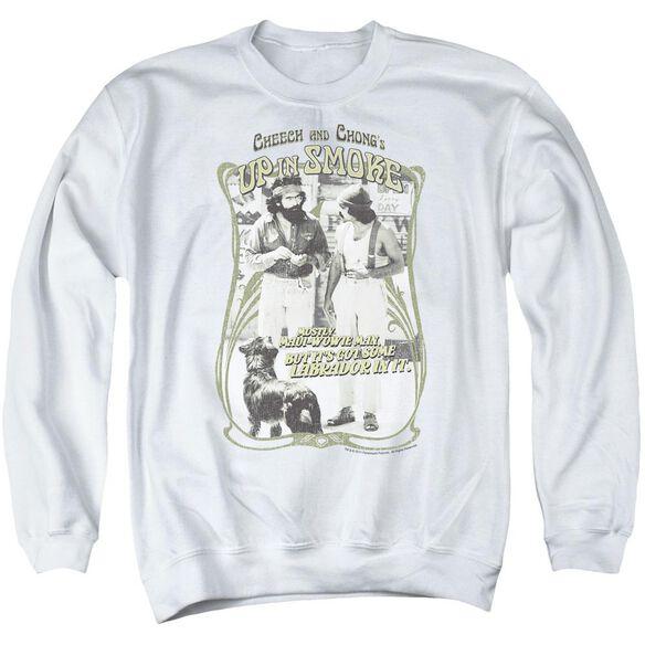Up In Smoke Labrador Adult Crewneck Sweatshirt