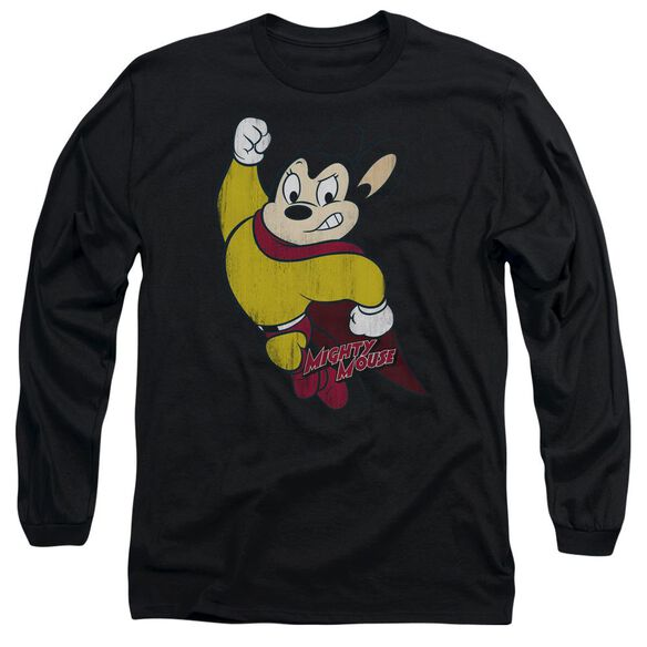 Mighty Mouse Classic Hero Long Sleeve Adult T-Shirt