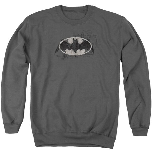 Batman Arcane Bat Logo Adult Crewneck Sweatshirt
