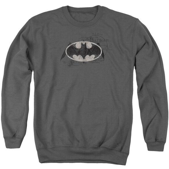 Batman Arcane Bat Logo Adult Crewneck Sweatshirt