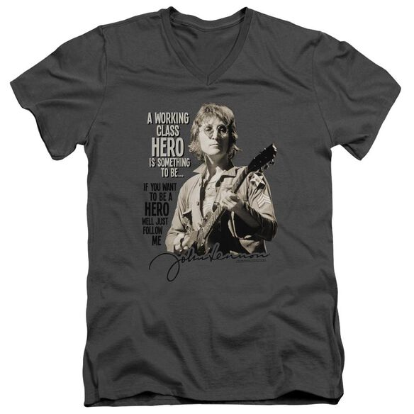 John Lennon Just Follow Me Short Sleeve Adult V Neck T-Shirt