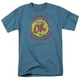 Chevrolet Chevy Ok Used Cars Short Sleeve Adult Slate T-Shirt