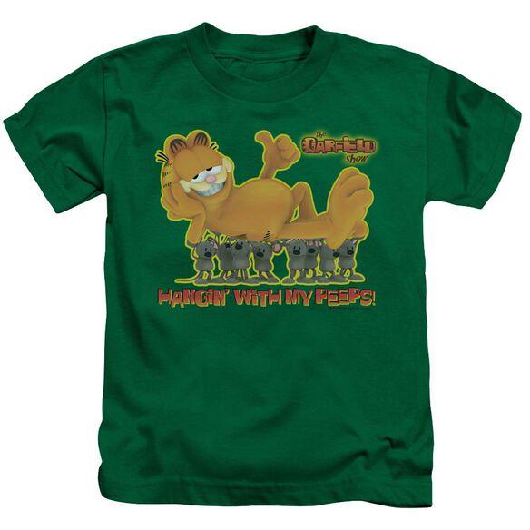 GARFIELD MY PEEPS - S/S JUVENILE 18/1 - KELLY GREEN - T-Shirt