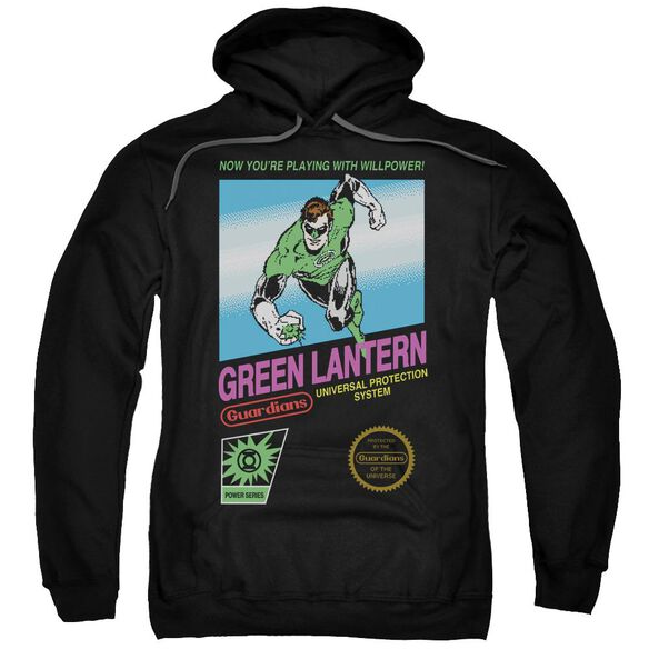 Green Lantern Box Art Adult Pull Over Hoodie Black