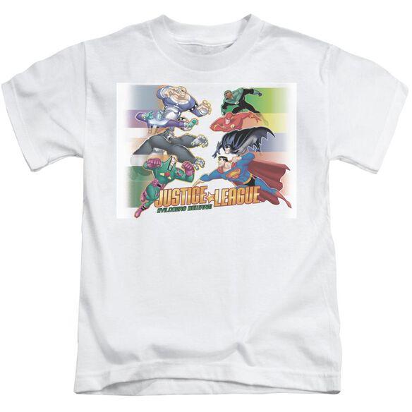 Jla Evildoers Beware Short Sleeve Juvenile White Md T-Shirt