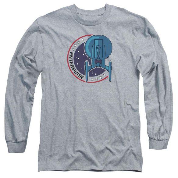Star Trek Enterprise Patch Long Sleeve Adult Athletic T-Shirt