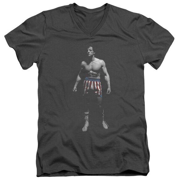 Rocky Stand Alone Short Sleeve Adult V Neck T-Shirt