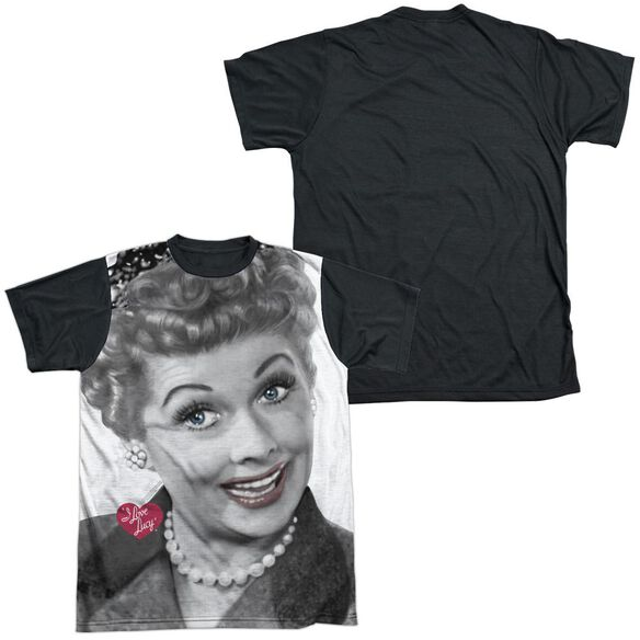 I Love Lucy Timeless Short Sleeve Adult Front Black Back T-Shirt